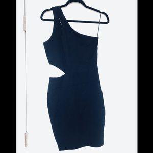 H&M Side Cutout One Shoulder Bodycon Dress
